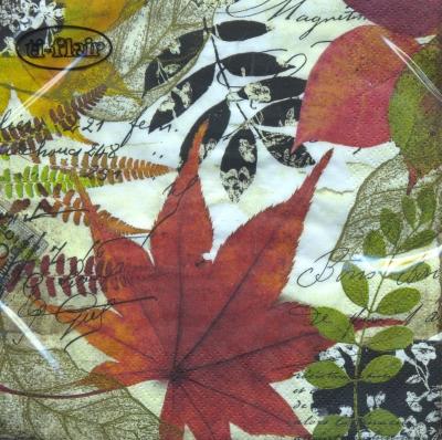 Lunch Servietten Hojas De Oto?o,  Herbst - Blätter / Laub,  Herbst,  lunchservietten,  Blätter