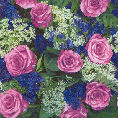 20 Servietten - 33 x 33 cm From the Rose Garden,  Blumen - Rosen,  Everyday,  lunchservietten,  Rosen