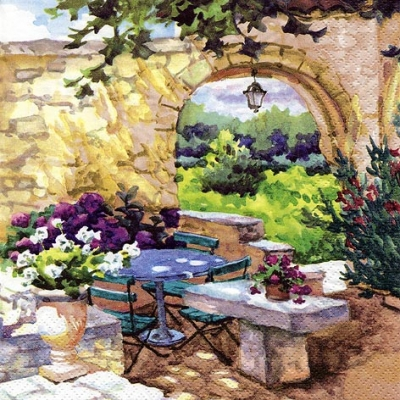 Lunch Tovaglioli Patio Morning in Provence
