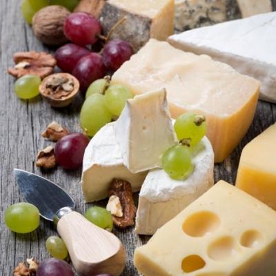 Servietten 33 x 33 cm,  Früchte - Weintrauben,  Essen - Käse,  Everyday,  lunchservietten,  Weintrauben,  Käse