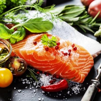 Servietten nach Jahreszeiten,  Essen - Fisch,  Everyday,  lunchservietten,  Lachs