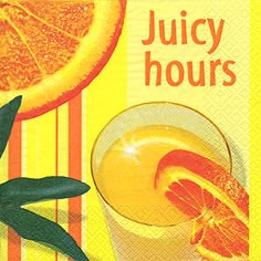 Lunch Servietten Juicy Hours yellow,  Getränke - Fruchtsaft,  lunchservietten