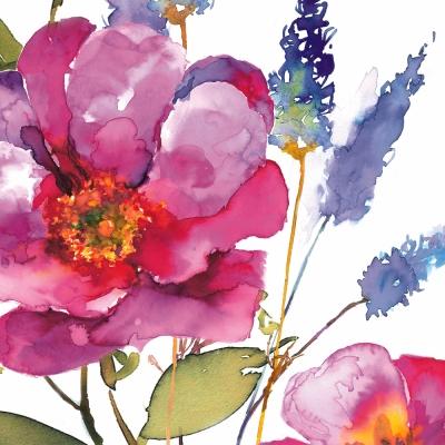 Lunch Servietten Rosa Grande,  Blumen -  Sonstige,  Everyday,  lunchservietten,  Blumen