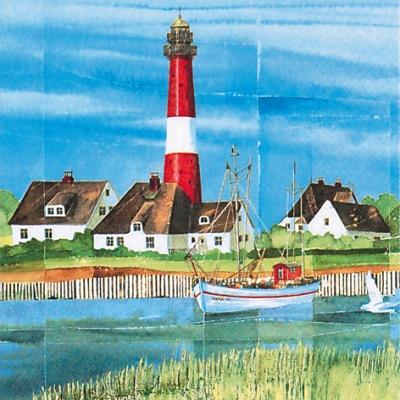 20 Servietten - 33 x 33 cm Coastal Mood,  Regionen - Strand / Meer - Schiffe,  Regionen - Strand / Meer - Leuchttürme,  Everyday,  lunchservietten