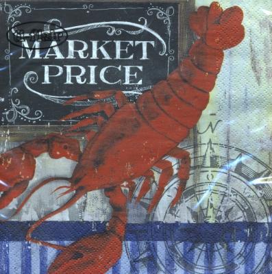 Lunch Servietten Market Price - Lobster,  Tiere -  Sonstige,  Essen -  Sonstiges,  Everyday,  lunchservietten,  Hummer
