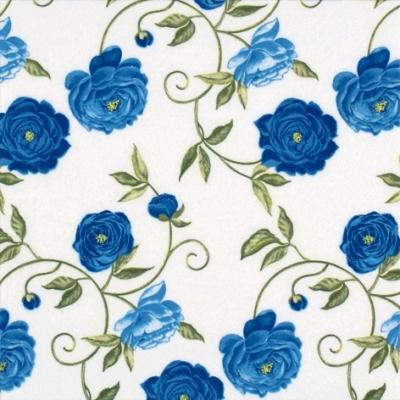20 Servietten - 25 x 25 cm Peony blue,  Blumen - Rosen,  Everyday,  cocktail servietten