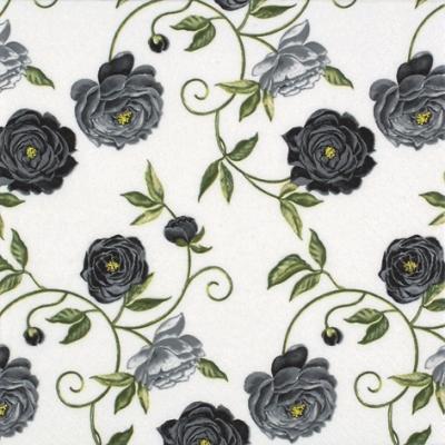 20 Servietten - 25 x 25 cm Peony black,  Blumen - Rosen,  Everyday,  cocktail servietten