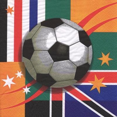 Lunch Servietten World Cup,  Sport - Fußball,  Everyday,  lunchservietten,  Fußball,  WM,  Flagge,  Ball