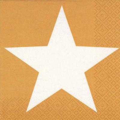 Lunch Servietten Bright Star gold,  Weihnachten - Sterne,  Everyday,  lunchservietten,  Sterne,  gold