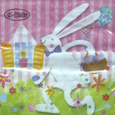 Lunch Servietten White Rabbit,  Ostern - Hasen,  Ostern,  lunchservietten,  Osterhase