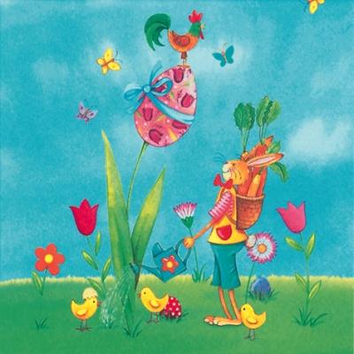 Servietten nach Jahreszeiten,  Blumen - Tulpen,  Ostern - Ostereier,  Ostern - Hasen,  Ostern,  lunchservietten,  Küken,  Ostereier,  Osterhasen