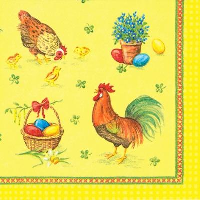 Lunch Servietten Chickens Family
