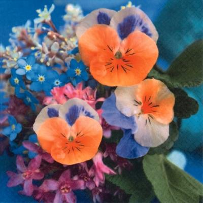 Lunch Servietten Violas del Pensiero,  Blumen - Stiefmütterchen,  Frühjahr,  lunchservietten